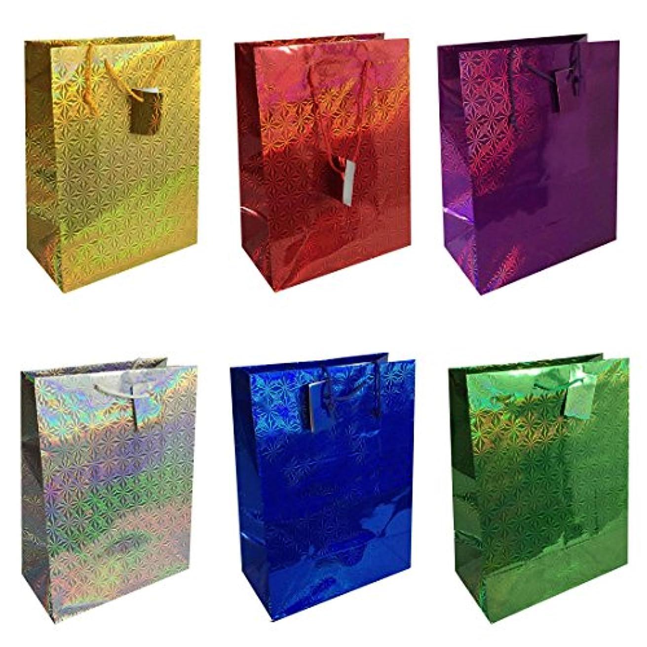 Allgala 12-PC Premium Hologram Gift Bags, 18