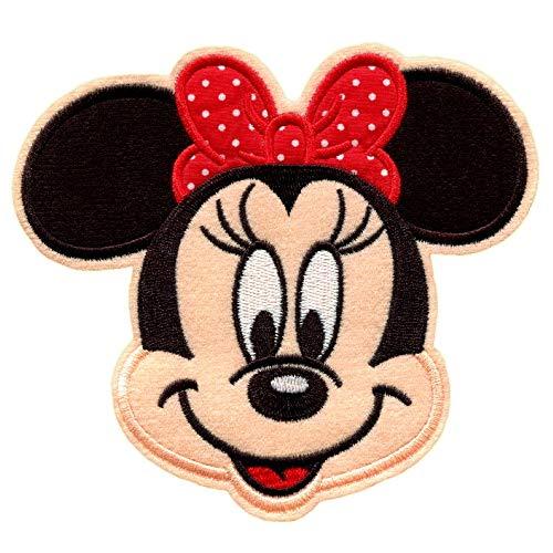 Patch Thermocollant Enfants Minnie - 14.1 x 13.9 cm - Ecusson à Coudre Motif Mouse Souris Dessin Animé en Tissu Thermocollant pour Vetement, Étiquettes Cadeau Personnalisé Bricolage DIY