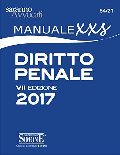 Manuale XXS di Diritto Penale (FORMATO extra small)