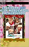 Best office calendar 2021 with wonderful backgrounds and block notes : The right gift for the Christmas party; Beautiful animals and pretty girls backgrounds. for girls (English Edition)