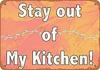 ヴィンテージ金属サイン私の台所に近づかないでください!ホームウォール装飾
