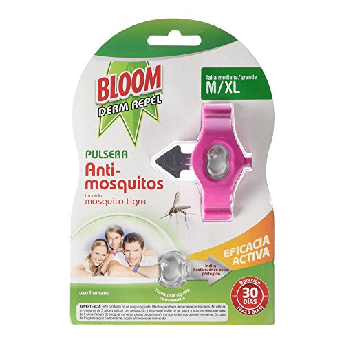 Bloom Pulsera Repelente para Adultos, Rosa  Negro  Azul