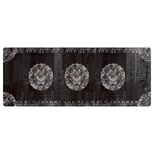 deco-mat Fußmatte Orient Schwarz • Fussmatte Innen Aussen • rutschfest und waschbar • Schmutzfangmatte • Türmatte 67 x 180 cm