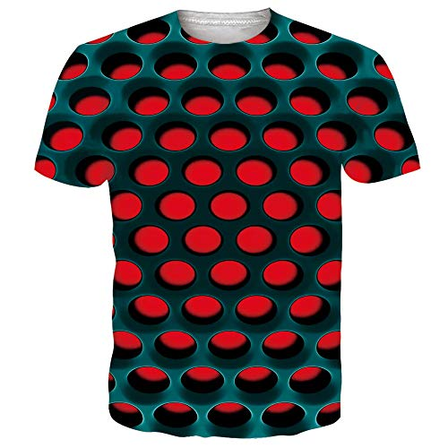 Idgeatim Teenagers Universe 3D Drucken Lässige T-Shirts Bunte Top Tees Schwarz