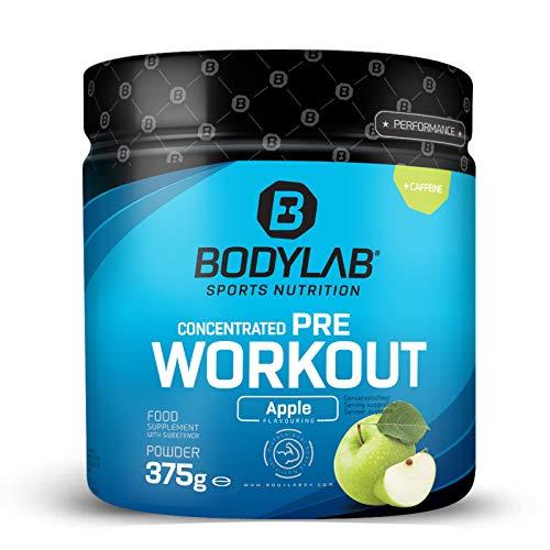 Bodylab24 Concentrated Pre Workout 375g | Pre-Workout Booster mit Aminosäuren und Koffein | Grüner Apfel