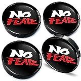 Biomar Labs® 4 x 60mm Coprimozzi Copricerchi Tappi Ruote Auto Logo Stemma No Fear Senza Paura C 100