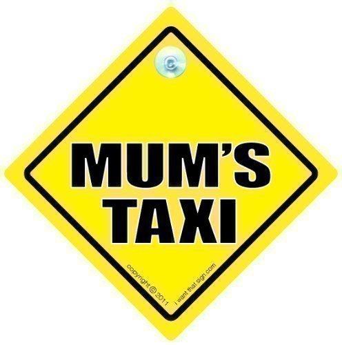 Panneau taxi, Taxi de maman de maman, maman Panneau de Taxi Sign, mamans Taxi, voiture, jaune, texte, Baby on Board Panneau Style Sticker, pare-chocs, mamans Taxi Sign, bébé à bord, autocollant, Road Sign