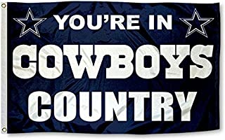 Five Star Flags New Dallas Cowboys Flag, Exclusive NFL Merchandise for Indoor/ Outdoor Use, 100% Polyester, 3 x 5 Ft