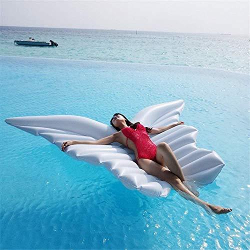 Licht Schwimmbad schwimmendes Bett aufblasbare Floating Floß PVC Pool Liege Butterfly Form Blow up Strand Spielzeug für Kinder und Erwachsene Weiße Airbetten & Schlauchboden (Farbe: weiß, Größe: 250x1