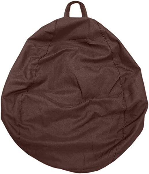 LOVIVER 10 Colors 2 Sizes Stuffed Animal Storage Bean Bag Chair Bean Bag Cover For Child Or Adult Quality Zipper Premium Cotton Canvas Coffee