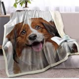 Manta de felpa para perro en 3D para cama de perrito sherpa, manta de forro polar de felpa fina para dormitorio o siesta,...