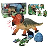 Monoclonius Dinosaur Toy for Kid 3 Years Old, 3 in 1 Toddler Toys Set for Kids Boys and Girls Age 3 and up Play, Education, Birthday Toy for Boy Girl 3 4 5 6 7+