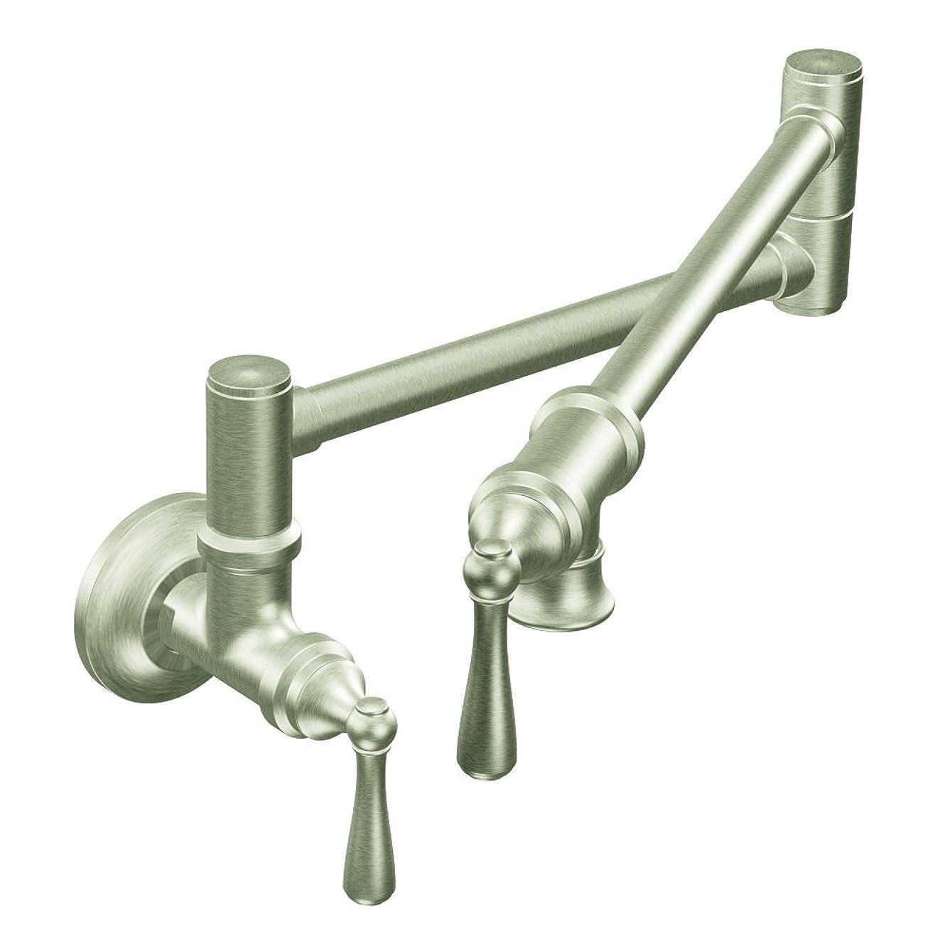 Moen S664SRS Traditional Pot Filler Kitchen Faucet, Spot Resist Stainless