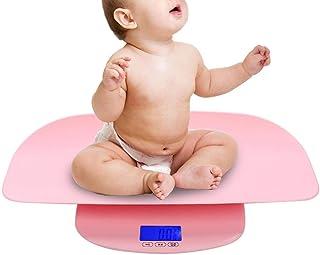 Báscula de peso corporal inteligente, escala de peso digital electrónica de bebé de plástico HD LCD Herramienta de medición infantil recién nacida con precisión: la calidad es nuestra cultura(Rosado)