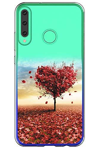 "16Jessie液晶与Huawei P40 Lite E大理石花盒兼容透明TPU硅胶套透明防刮擦Flex保护壳,适用于Huawei P40 Lite E 6.39"""