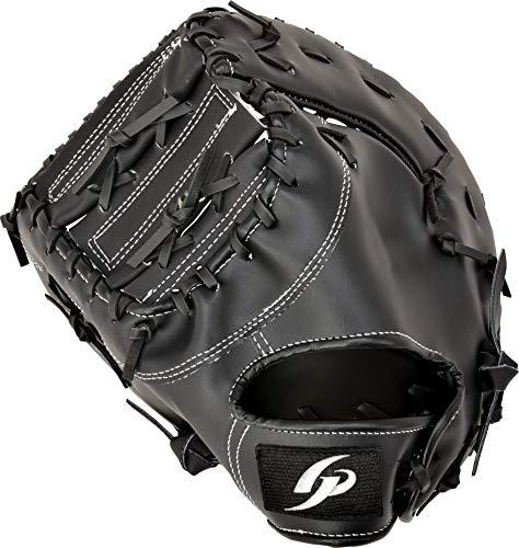 GP (ジーピー) 野球 グローブ ファーストミット 1塁手用 軟式用 草野球・キャッチボールに ブラック 左投げ用 53703, medium