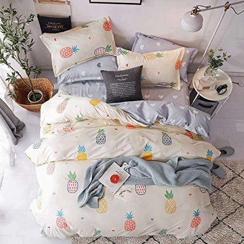 xuzheng Casa Textil Textil Rosa Dibujos Animados Ropa de Cama niña niño Adolescente Lino Tapa Funda de Almohada Hoja Cama Reina Reina Doble Soltero