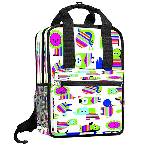 Backpacks Shoulders Bag rainbow animals Backpack traveling middle school high school