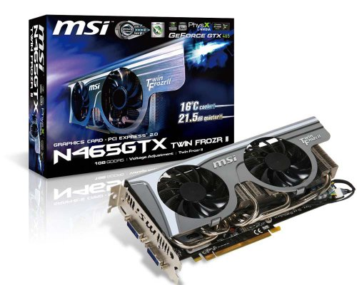 MSI N465GTX Twin Frozr II 1024MB DDR5