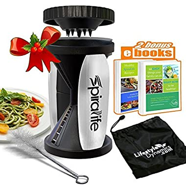 Original SpiraLife Spiralizer Vegetable Slicer – Vegetable Spiralizer - Spiral Slicer Cutter