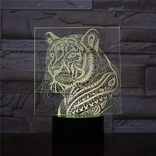 LED Night Light Tiger Lampara Touch Sensor Niño Niño Baby