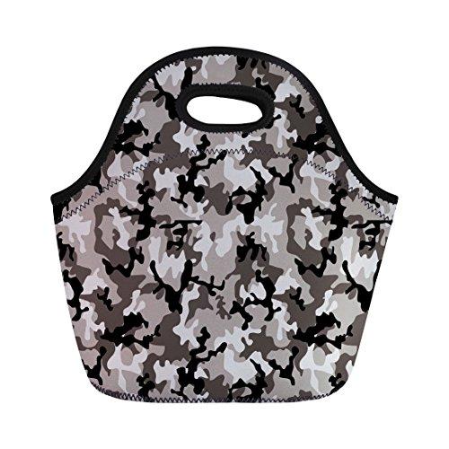 Nopersonality Motif camouflage Sacs repas isotherme pour hommes femmes adultes enfants filles, Camo-2, Taille M