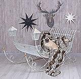 Deko Schlitten Metall Rodel Antik Sitzbank Metallschlitten Shabby Weihnachtsdeko aja187 Palazzo Exklusiv