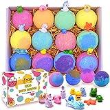 Kids Bath Bombs with Surprise Toys Inside - Lush Bubble Bath Fizzies Vegan Essential Oil Spa Bath...