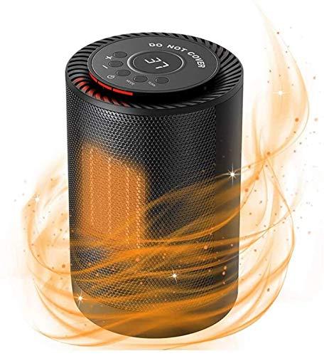 Calentador de espacio eléctrico portátil Portátil CALENTADOR DE ESPACIO ELÉCTRICO 1200W Ventilador de calefacción de cerámica con termostato ajustable sobrecalentamiento de la protección de la punta d