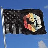 AOTADer Banderas al Aire Libre desgastadas Bandera de EE. UU. Bandera de Jugador de Pinball Retro de los años 70 para fanático de los Deportes Fútbol Baloncesto Béisbol Hockey