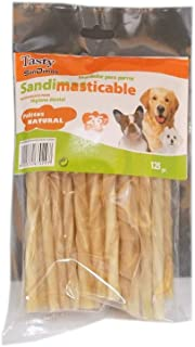 300 Palitos Masticables Naturales Colores Surtidos para Perros Tasty SanDimas 12 x 200 gr 12 Bolsas x 25 uds