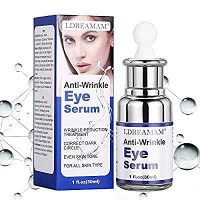Anti Wrinkle Eye Serum,Anti Ageing Eye Serum,Hydrating Eye Serum,For Dark Circles & Puffiness - Reduces Wrinkles, Bags, Saggy Skin & Puffy Eyes Great Eye Treatment For All Types Of Skin