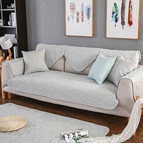 Omkeerbare Gewatteerde Slaapbank Meubelbeschermers Zachte Sectionele Sofa Cover Decoratieve Katoen Sectionele Bank Slipcover Protector Voor L-vorm Bank U-vorm Sofa