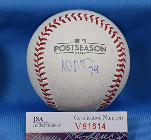 Andrew Miller Jsa Indians Signed 2017 Post Season Baseball Autograph Authentic - Autographed Baseballs