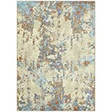 Maples Rugs Southwestern Stone Distressed Abstract Area Rugs Carpet for Living Room & Bedroom [Made in USA], 5 x 7, Multi