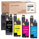MYTONER Compatible Toner Cartridge Replacement for Dell E525W E525 525w 593-BBJX 593-BBJU 593-BBJV 593-BBJW for E525w Wireless Color Printer (Black Cyan Magenta Yellow, 4 Pack)