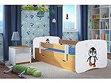 CARELLIA Cama Infantil de pingüino de 80 x 160 cm, con Barrera de Seguridad,...