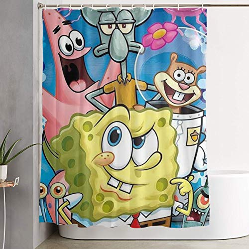 MOANDJI Funny Fabric Shower Curtain Spongebob Squarepants...