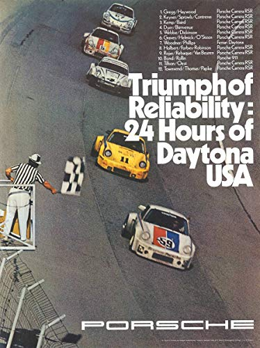 Historic Pictoric Porsche Race 1970-24in x 18in Vintage USA Poster Print