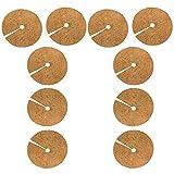 cherrypop 10 Piezas de Almohadillas de ProteccióN para Mantillo de áRbol Fibra de Palma de Coco de 11,8 Pulgadas, para Mantillo para Mantillo Vegetal Disco, Macetas