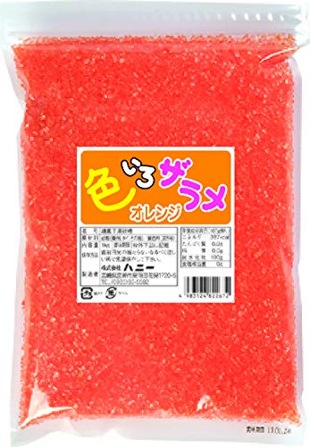 野田ハニー 業務用色いろザラメオレンジ1Kg