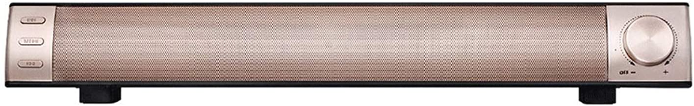 Bluetooth Speaker Strip Wireless Home Theater Echo Wall TV Computer Sound Sound Blaster (Color : Gold) photo