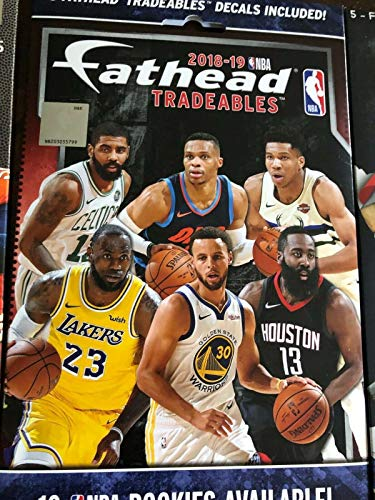 2018-2019 NBA FATHEAD Tradeables Pack - Brand New, Sealed, Unopened Pack - Includes 5 Officially Licensed NBA Player Vinyl Wall Graphic Decals - 7' INCH Each