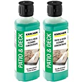 Small KARCHER Genuine Patio + Deck Pressure Washer Cleaner Detergent Fluid - Mixes up to 5L (Pack of 2) image
