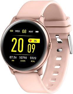 Rastreador de Fitness, Hombre Mujer Pulsómetros Podómetro Contador de Caloría Impermeable IP67 Monitor de Sueño,A
