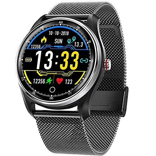 CCZMD Smart Watch Fitness wasserdichter Schlafmonitor für Android/iOS Sport-Fitness-Tracker mit Herzfrequenzmonitor SMS Anrufbenachrichtigung,C