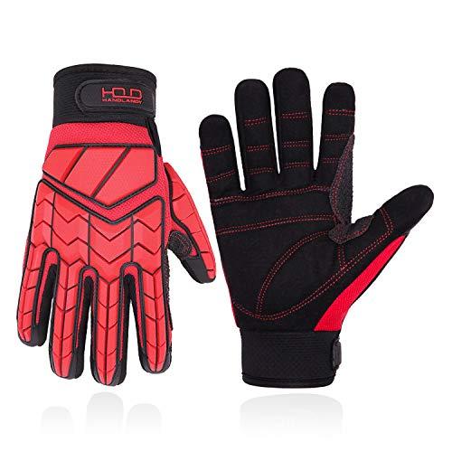 Guantes anti vibración, acolchado SBR, guantes de impacto protector TPR,...