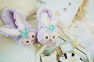 Nikai Zapatillas de casa Originales,Invierno cálido Dibujos Animados Modelos de Conejo de Ballet hogar Zapatillas de algodón Antideslizantes Interiores-Zapatillas de Loop Pile_36-37