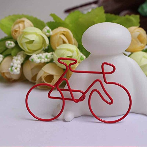 4 Stks Creative Bike Paper Clips Kaartbestand Clips voor Bladwijzer Office School Notebook(Random Color)