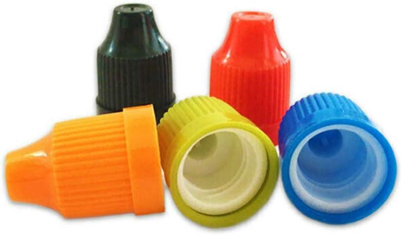 botellas + tapas de mezcla de colores + puntas de 3 ml XIAONAN 10 botellas vac/ías de pl/ástico LDPE con tapa resistente a los ni/ños